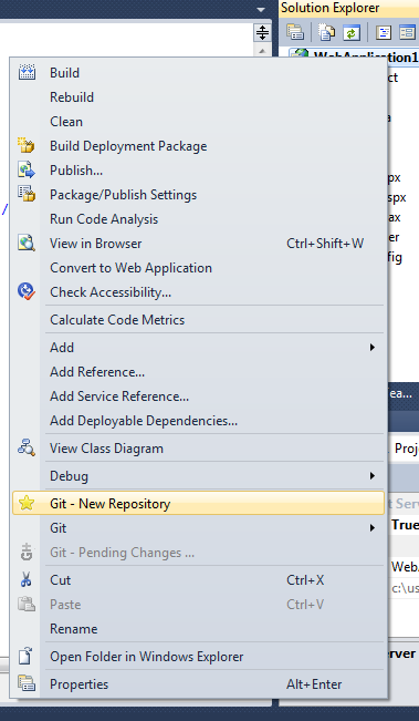 Using Git with Visual Studio 2010, an introduction