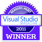 Visual Studio Magazine Award 2011 - Best Web Hosting Merit