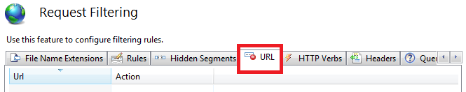 Request Filtering URL icon