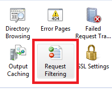 Request Filtering box
