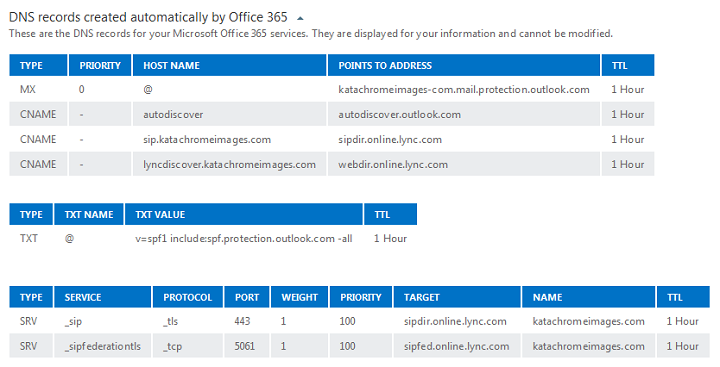 Office365DNSRecordsForDASP