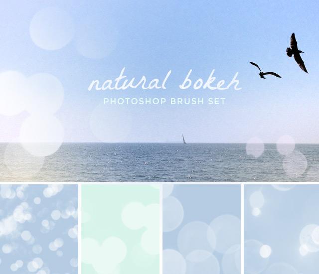 Image: Natural Bokeh Photoshop CS5 Brush Set
