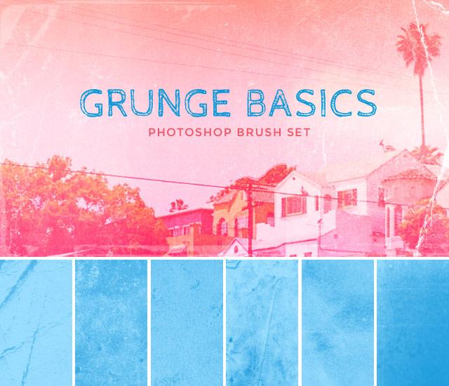 Image: Grunge Basics Photoshop CS5 Brush Set
