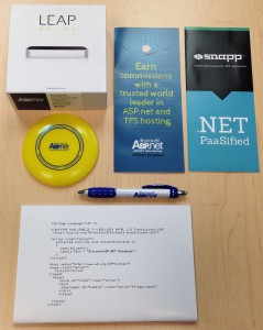 Leap Motion and DiscountASP.NET swag.